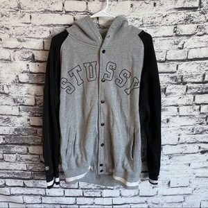 Stussy Embroidered Button Up Hoodie